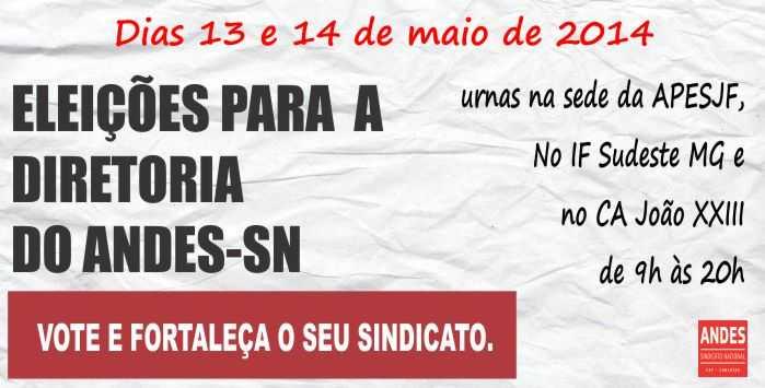 Cartaz eleição do ANDES