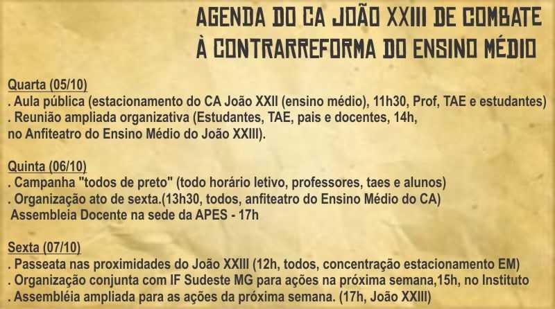 agenda-joao-xxiii