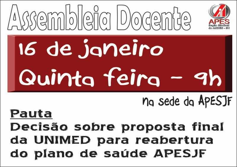 assembleia plano de saúde janeiro 2014