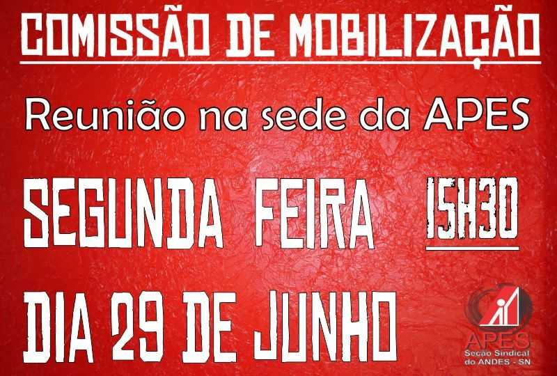 cartaz comissão de mobilização