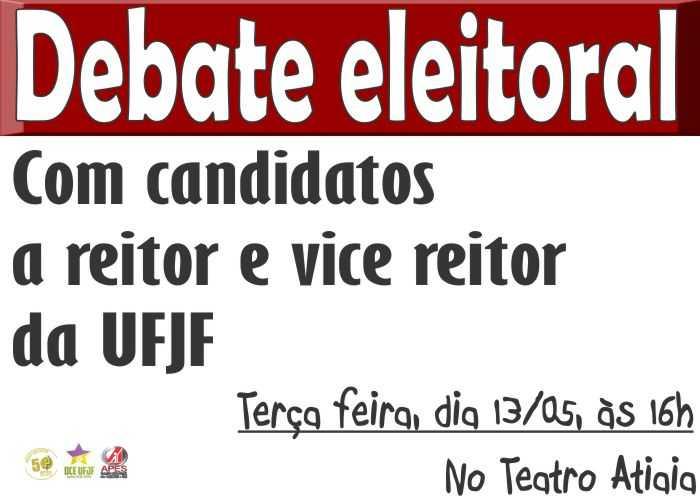 cartaz debate em governador valadares