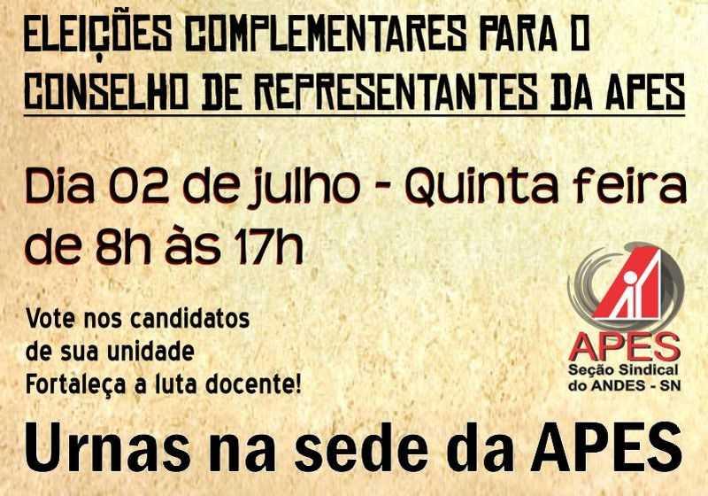 cartaz eleição conselho de representantes